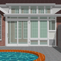 Split-Level Custom Sunroom Enclosure Design Image