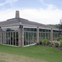 Photo of all-Glass sun room, Pool Enclosure