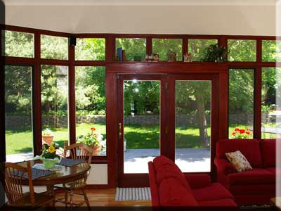 Sunroom_glass wall_interior photo