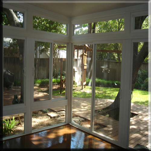 All Glass insulated vinyl window wall- sunroom addition